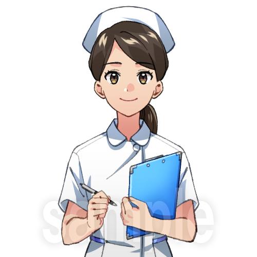 看護師(アニメ風イラスト)