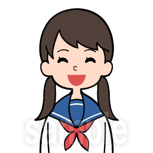 セーラー服を着た笑顔の学生(女)