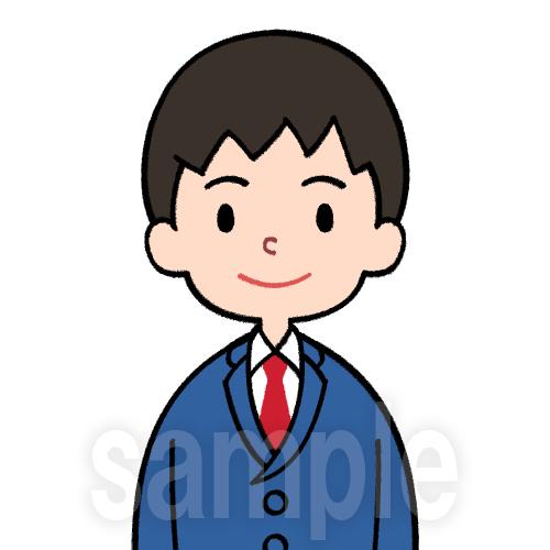 ブレザーを着た学生(男)