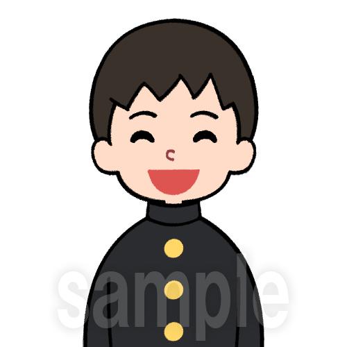 学ランを着た笑顔の学生(男)