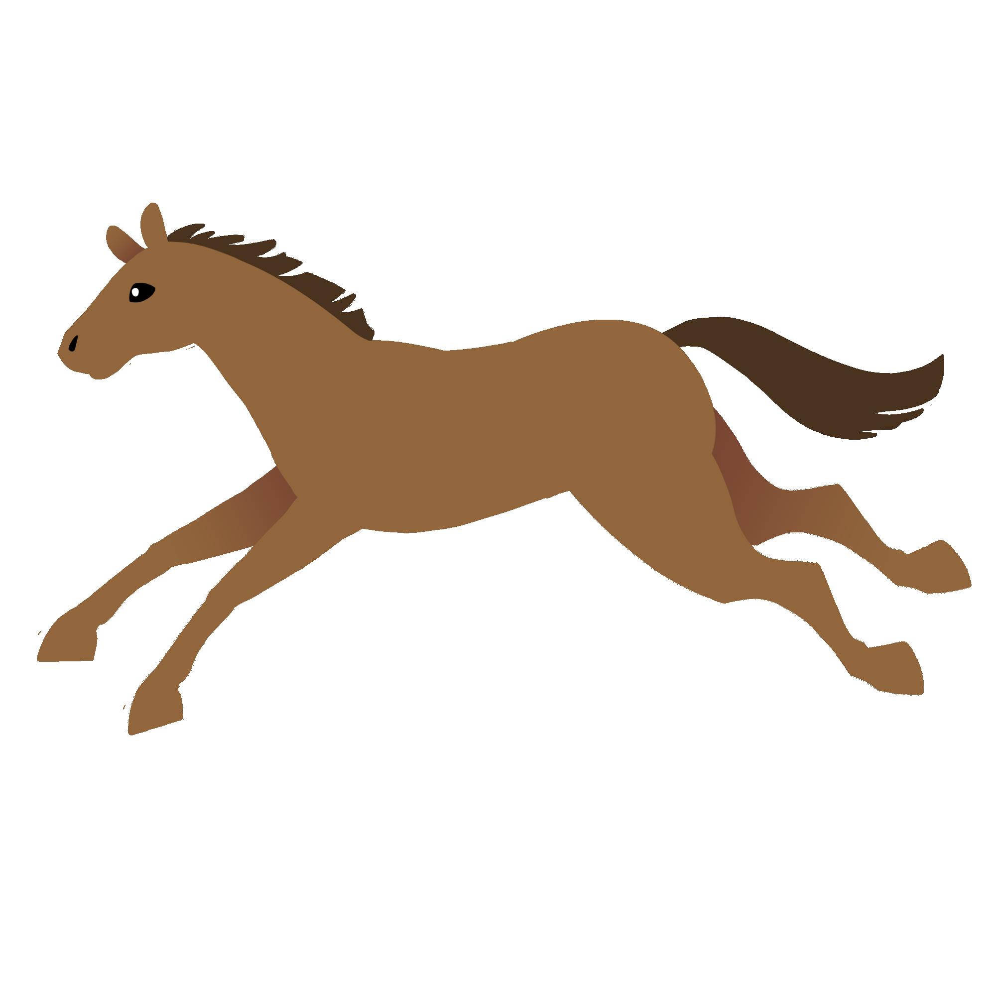 栗毛の走る馬