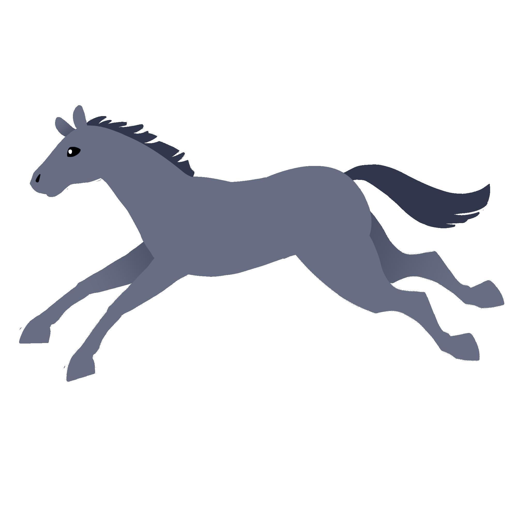 芦毛の走る馬
