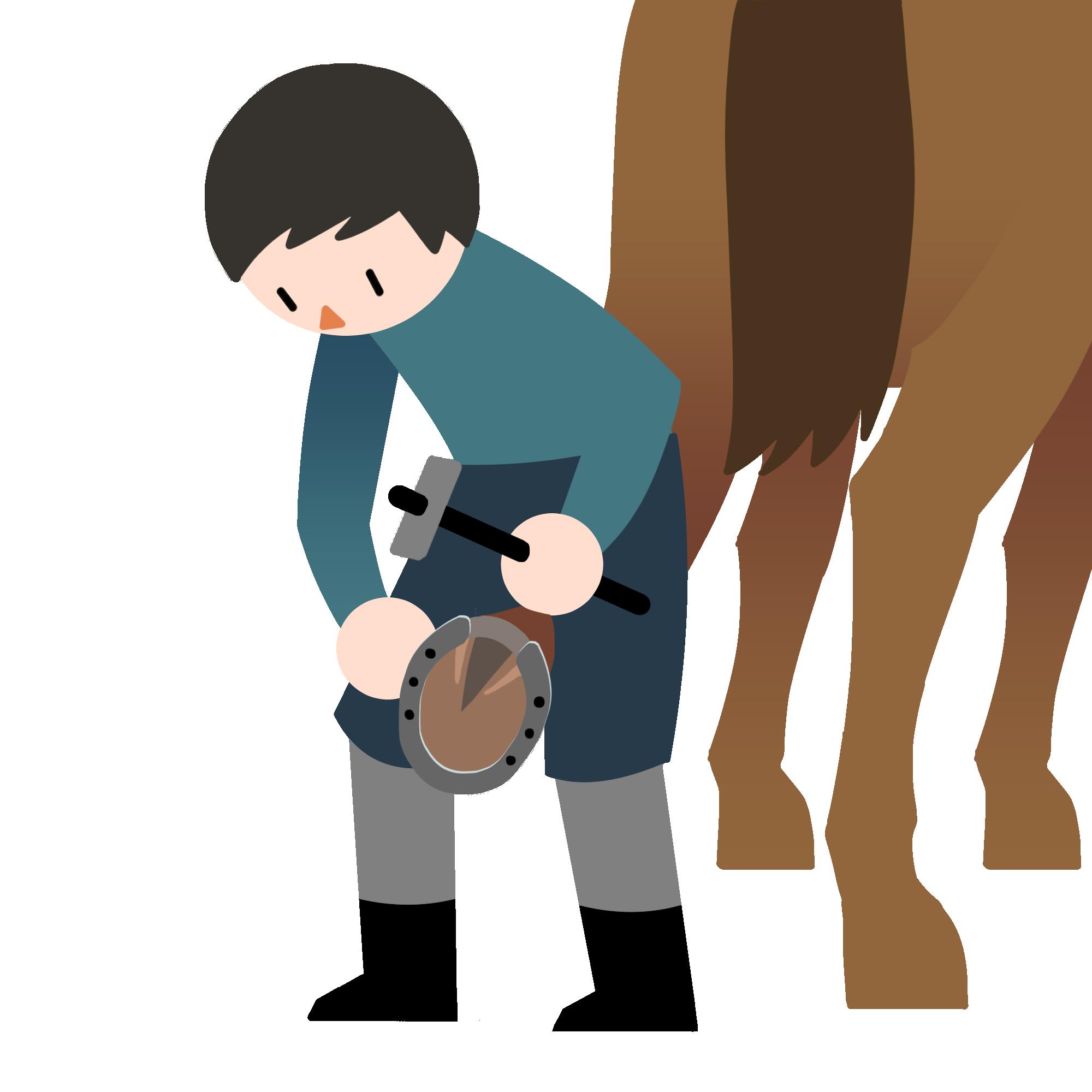 蹄の手入れ