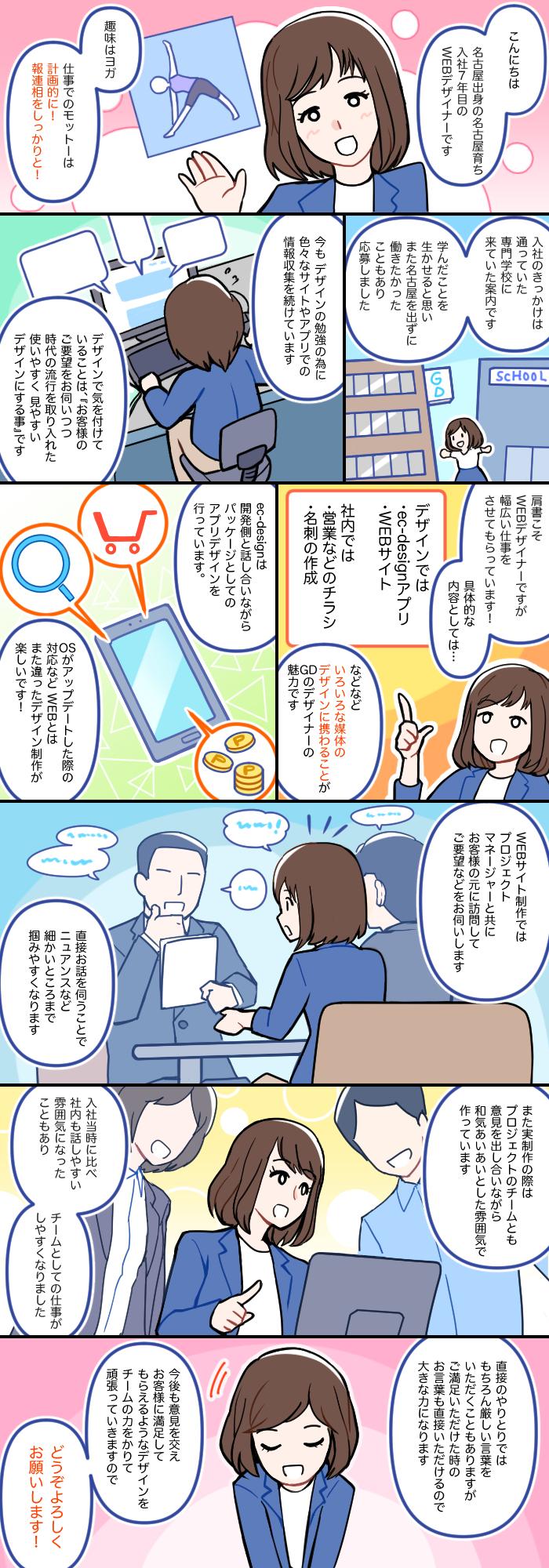 2014年入社 デザイナー 自己紹介漫画