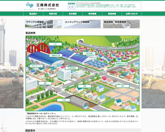 三商株式会社様【企業サイト】